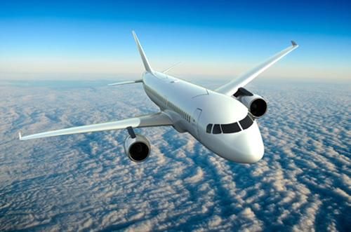 Foto Flugzeug über Wolken